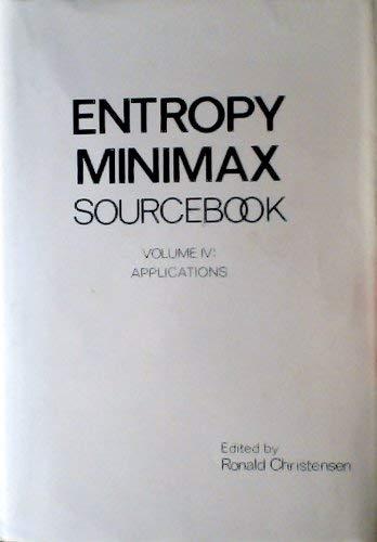 Entropy Minimax Sourcebook, Vol. 4: Applications: Christensen