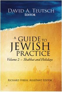9780938945024: A Guide to Jewish Practice: Volume 2- Shabbat and Holidays