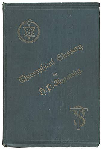 9780938998044: Theosophical Glossary: A Photographic Reproduction of the Original Edition