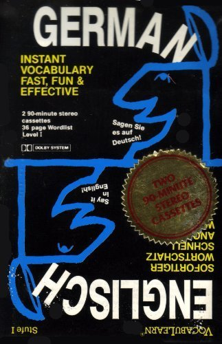 9780939001309: Vocabulearn-German/English Level 1: Instant Vocabulary Fast, Fun, and Effective (Cassettes and Wordlist) (German Edition)