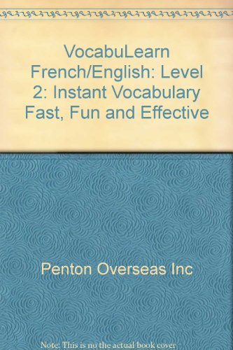 9780939001552: Vocabulearn-French/English Level 2: Instant Vocabulary Fast, Fun, & Functional (French Edition)