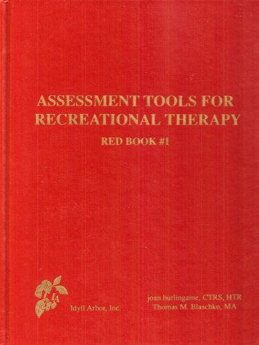9780939116287: Assessment Tools For Recreational Therapy: Red Book #1