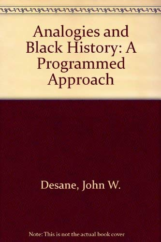 9780939296033: Analogies and Black History: A Programmed Approach