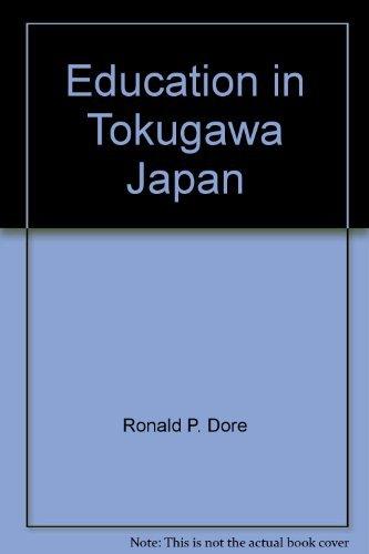 9780939512157: Education in Tokugawa Japan