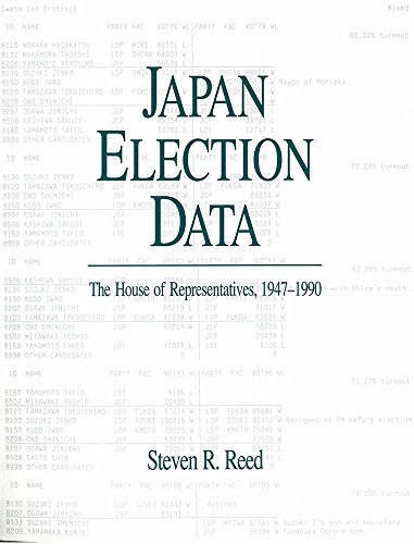 9780939512584: Japan Election Data: The House of Representatives (1947-1990)