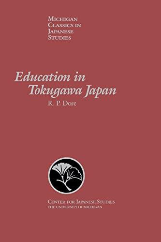 9780939512591: Education in Tokugawa Japan (Michigan Classics in Japanese Studies)