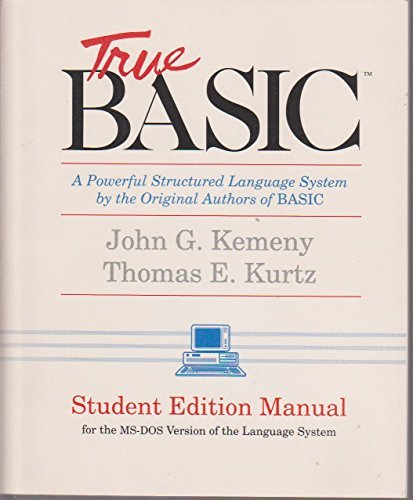 9780939553075: True Basic 2.6 (MS-DOS/Student Edition)