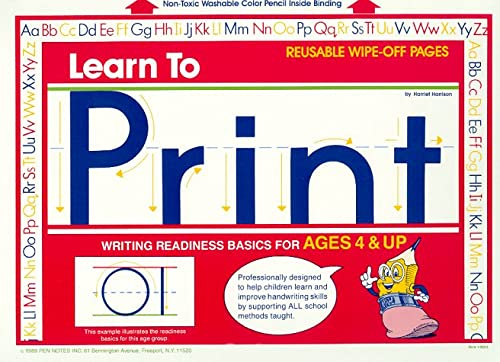 9780939564019: Learn to Print