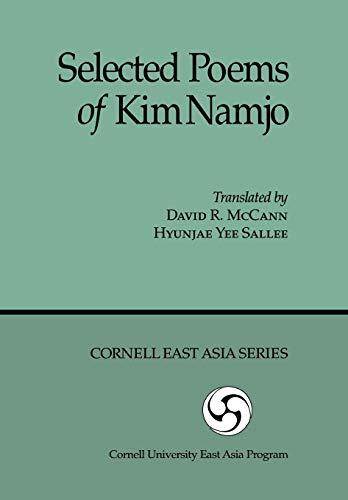 9780939657636: Selected Poems of Kim Namjo (Cornell East Asia Series)