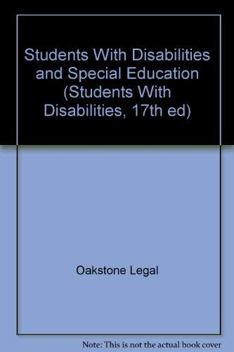 9780939675944: Students With Disabilities and Special Education (Students With Disabilities, 17th ed)