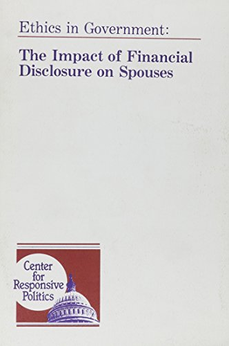 9780939715015: The Impact of Financial Disclosure on Spouses