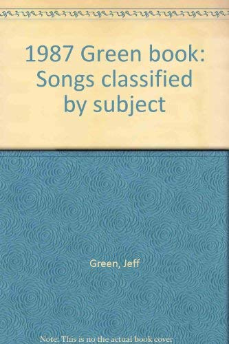 1987 (THE) GREEN BOOK: Green, Jeff