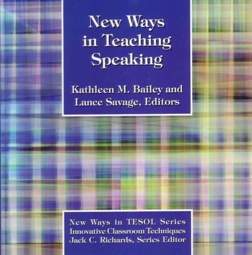 9780939791545: New Ways in Teaching Speaking