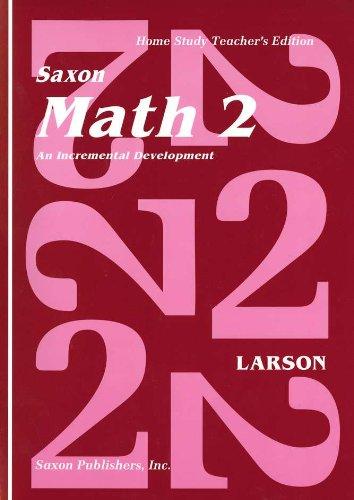 Saxon Math 2: An Incremental Development Teacher's Manual (0939798298) by Larson; Nancy Larson; Various