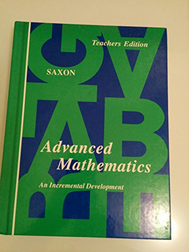 9780939798384: Advanced mathematics: An incremental development