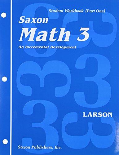 9780939798834: Math 3: An Incremental Development Set: Student Workbooks, part one and two plus flashcards (Saxon math, grade 3)