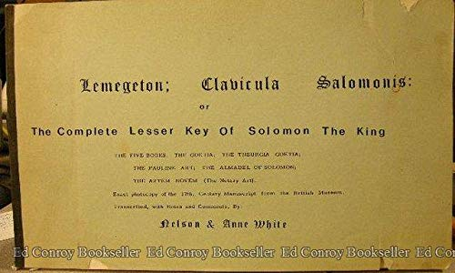9780939856060: Lemegeton, Clavicula Salomonis: Or the Complete Lesser Key of Solomon the King
