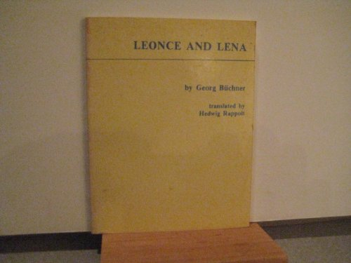 Leonce and Lena: A comedy: Buchner, Georg