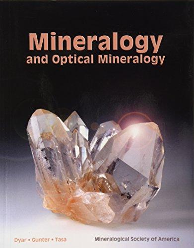 Mineralogy And Optical Mineralogy: Melinda Dyar