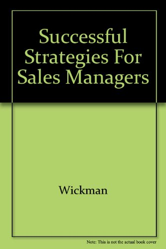 9780939975006: Successful Strategies for Sales Managers