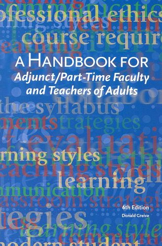 9780940017078: A Handbook for Adjunct & Part-Time Faculty & Teachers of Adults