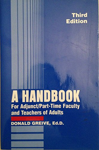 9780940017221: A Handbook for Adjunct & Part-Time Faculty & Teachers of Adults