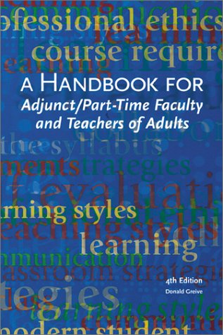 9780940017283: A Handbook for Adjunct & Part-Time Faculty & Teachers of Adults