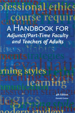 9780940017290: A Handbook for Adjunct, Part-Time Faculty and Teachers of Adults