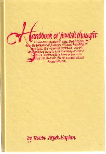 9780940118492: The Handbook of Jewish Thought, Volume 1