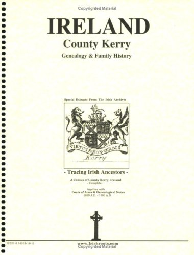 9780940134843: County Kerry Genealogy & Family History extracts from the Irish archives