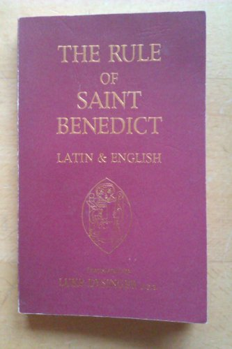 9780940147270: Rule of st Benedict: In Latin and English