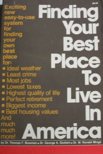9780940162006: Finding Your Best Place to Live in America