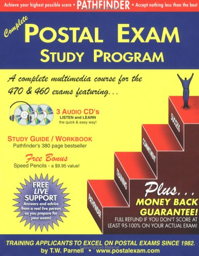 9780940182103: Complete Postal Exam 460 Study Program: 3 Audio CDs, 380 page Training Guide, Speed Pencils, Free Live Support & Guaranteed Score of 95-100%