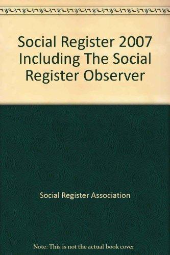9780940281202: Social Register 2007: Including the Social Register Observer