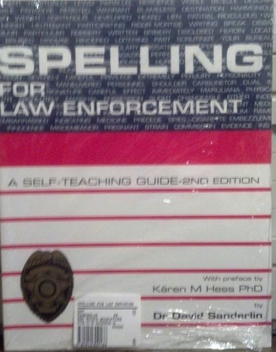 9780940309166: Spelling for Law Enforcement, 2nd edition