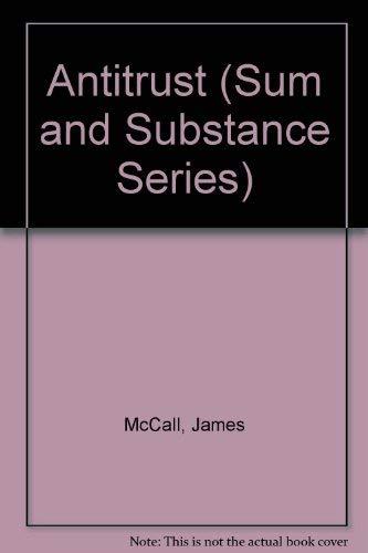 9780940366008: Antitrust (Sum and Substance Series)