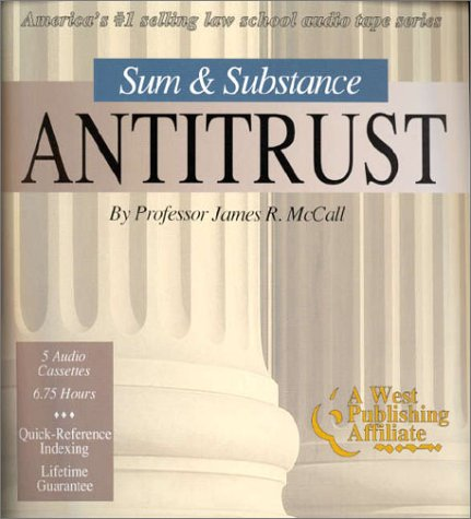 "9780940366732: Sum & Substance: Antitrust (The ""Outstanding Professor"" Audio Tape Series)"