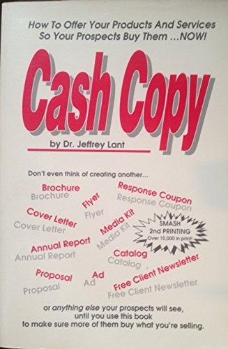 Cash Copy: DR JEFFREY LANT