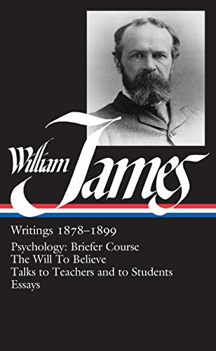 9780940450721: William James: Writings 1878-1899 (Library of America)