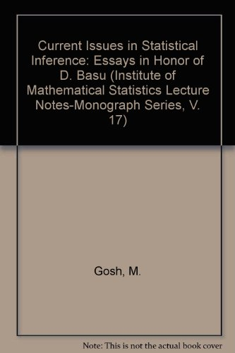 Institute of Mathematical Statistics Lecture Notes-Monograph Series: M. Gosh