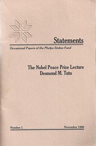 The Nobel Peace Prize Lecture : Desmond: Desmond Tutu