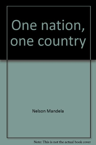 9780940605046: One nation, one country (Statements)