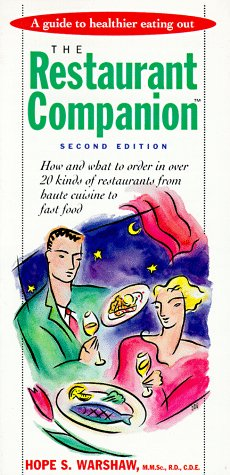 9780940625938: The Restaurant Companion: A Guide to Healthier Eating Out
