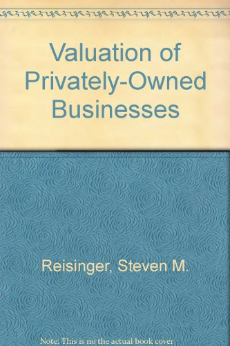 9780940694002: Valuation of Privately-Owned Businesses