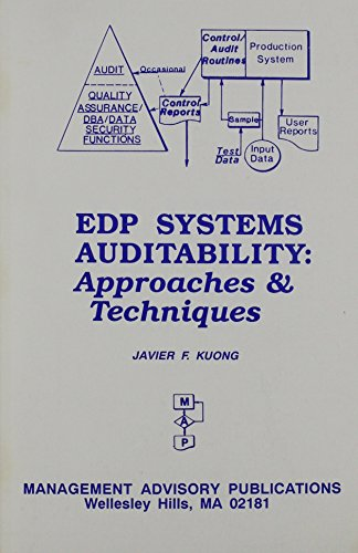 Edp Systems Auditability - Approaches & Techniques: J. Kuong, Javier