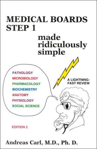 9780940780392: Medical Boards Step 1 Made Ridiculously Simple