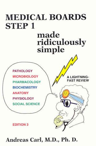 9780940780521: Medical Boards Step 1 Made Ridiculously Simple (MedMaster Series, 2002 Edition)