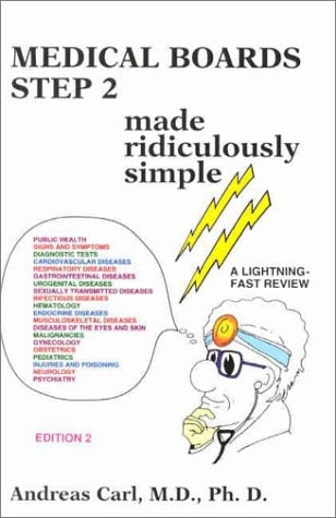9780940780552: Medical Boards Step 2 Made Ridiculously Simple (MedMaster Series, 2002 Edition)