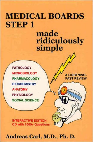 9780940780590: Medical Boards Step 1: Made Ridiculously Simple (Book with CD-ROM)