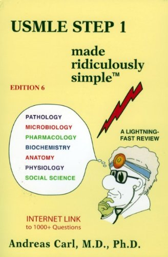 9780940780910 Usmle Step 1 Made Ridiculously Simple 6th Ed Abebooks Andreas Carl 0940780917